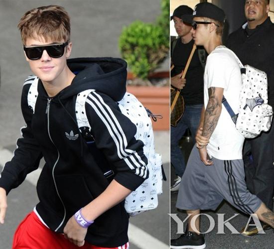 贾斯汀·比伯(Justin Bieber)多次选择MCM双肩背
